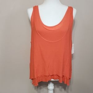 Free People coral Karmen racerback tank top